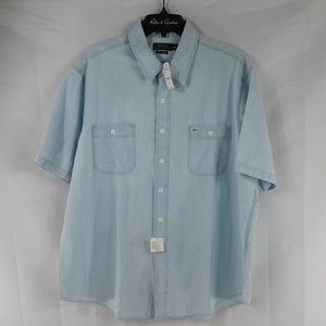 NWT Ralph Lauren XXL Denim Light Blue Short Sleeve